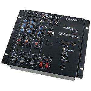 Mesa De Som 4 canais Mixer Mxf4 Usb Frahm