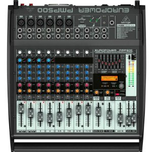 Mesa De Som Amplificada Behringer Pmp500 500w 12 Canais