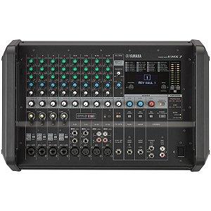 Mesa De Som Yamaha Amplificada Emx7 12 Canais