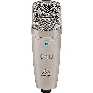 Microfone Condensador Behringer C-1u Com Interface Usb Integrada