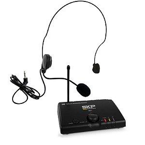 Microfone Headset Sem Fio UHF Skp Mini-V