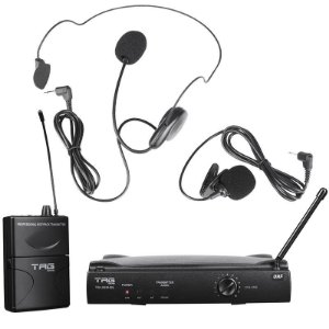 Microfone Sem Fio Dinâmico TAG Sound TM559HSL Headset e Lapela