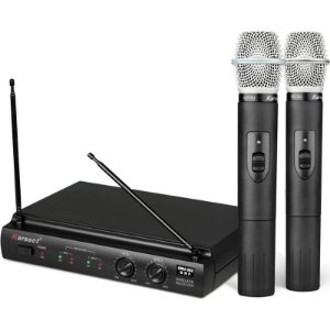 Microfone Sem Fio Profissional Karsect Kru 302 Dois Bastões