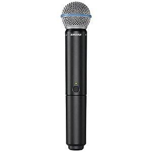 Microfone Shure Blx24br Beta58 Sem Fio Com Estojo