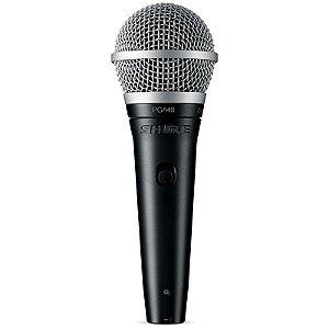 Microfone Shure Pga48 Vocal Cardioide Dinâmico