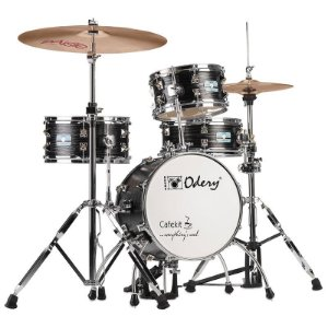 Mini Bateria Odery Café Kit Black Ash 14""
