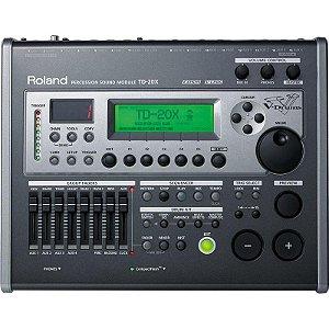 Módulo Roland Para Bateria Eletrônica Td-20 Kx V-Drums Produto De Show Room