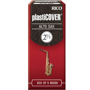 Palheta Plasticover Alto Sax 2.5 Rico Rrp05asx250 C/ 5 Unidades