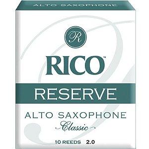 Palheta Reserve Classic Alto Sax 2 Rico Rjr1020 C/ 10 Unidades
