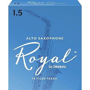 Palheta Rico Royal Alto Sax 1.5 Rjb1015 C/ 10 Unidades