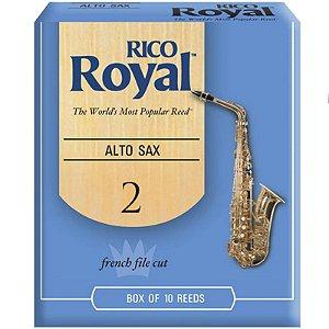 Palheta Rico Royal Alto Sax 2 Rjb1020 C/ 10 Unidades