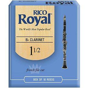 Palheta Rico Royal Clarinete Bb 1.5 Rcb1015 C/ 10 Unidades