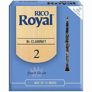 Palheta Rico Royal Clarinete Bb Rcb1220 C/ 12 Unidades