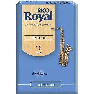 Palheta Rico Royal Tenor Sax 2 Rkb1020 C/ 10 Unidades