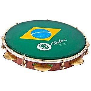 """Pandeiro Timbra Profissional Pele Brasil 10"""""""