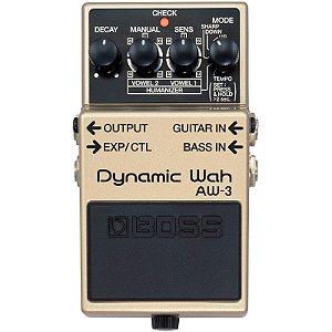 Pedal Boss AW-3 Dynamic Wah Para Guitarra e Contra-Baixo