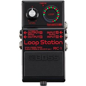 Pedal Boss RC-1-BK Loop Station Preto Edição Limitada
