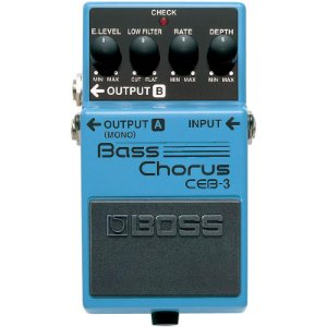 Pedal Efeito Boss CEB-3 Chorus para Contra-Baixo