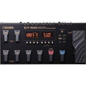 Pedaleira Boss Gt100 Multiefeitos E Modelagem De Amplificadores Com Fonte