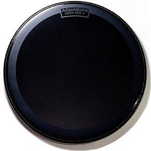 "Pele Aquarian Reflector Series Superkick Bumbo 22"" Preta Espelhada Ref22sk"