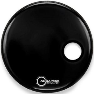 Pele Aquarian Regulator Resonant Black 20 Resposta De Bumbo