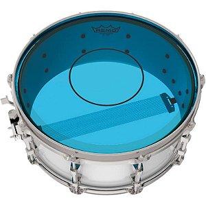 """Pele Caixa Tom Remo Powerstroke 77 Colortone 14"""" Azul P7-0314-Ct-Bu"""