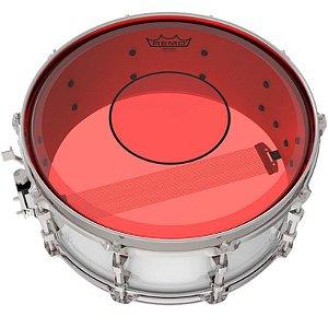 """Pele Caixa Tom Remo Powerstroke 77 Colortone 14"""" Vermelha P7-0314-Ct-Rd"""