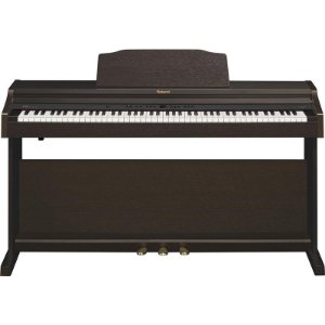 Piano Digital Roland Rp401r Rw Rosewood Com Banco