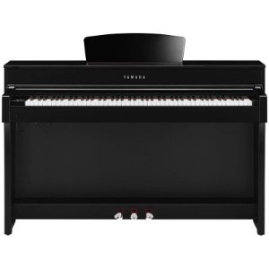 Piano Digital Yamaha Clavinova Clp-635 Polished Ebony Com Estante E Banco