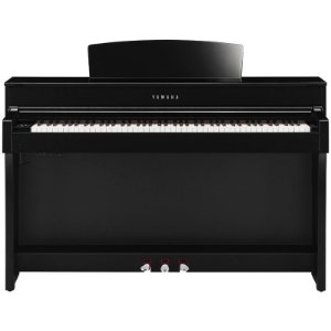 Piano Digital Yamaha Clavinova Clp-645 Polished Ebony Com Estante E Banco