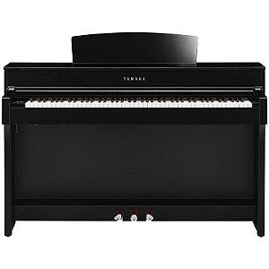 Piano Digital Yamaha Clavinova Clp-645 Polished Ebony Com Estante E Banco