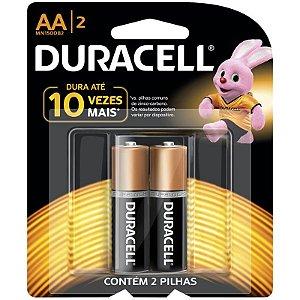Pilhas AA Duracell Alcalina Duralock Mn1500b2 Com 2 Unidades