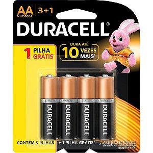 Pilhas AA Duracell Alcalina Duralock Mn1500b4 Com 4 Unidades