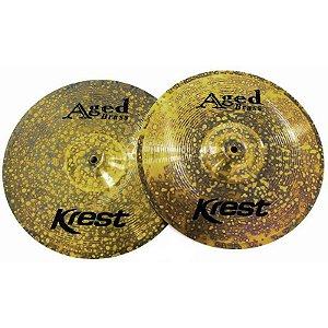 "Prato Krest Aged Brass Ab14hh Chimbal 14"""