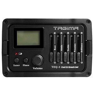 Pré Amplificador Equalizador Afinador Para Violão Tagima Teq 5 Bandas