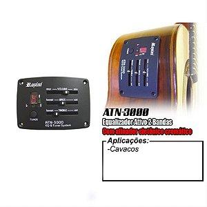 Pré-Equalizador Ativo De 2 Bandas Para Cavaco Com Afinador Rozini ATN-3000