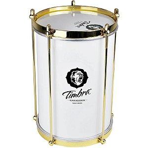 Repinique Bacurinha Timbra 8x30 Alumínio Branco Aro Dourado Pele Leitosa
