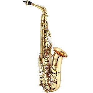 Saxofone Alto Jupiter Jas 500 Gold Lacquer Em Eb Com Case