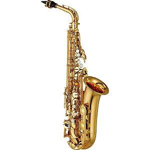 Saxofone Alto Yamaha Yas 280 ID Laqueado Dourado Eb Com Case