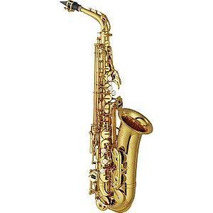Saxofone Alto Yamaha Yas62 Laqueado Dourado Eb Com Case