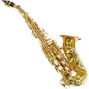 Saxofone Benson Soprano Curvo Bssc-1l Bb Laqueado