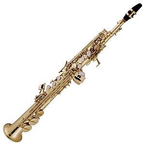 Saxofone Soprano Vogga Vssp701 Laqueado Em Bb Com Case
