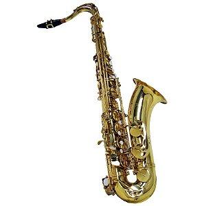 Saxofone Tenor Shelter Sft6435l Laqueado Em Bb Com Estojo
