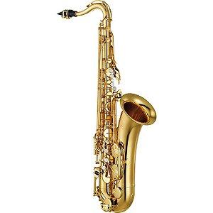 Saxofone Tenor Yamaha Yts280 Id Laqueado Dourado Bb Com Case