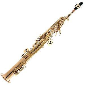 Sax Soprano Eagle Em Sib Spx512 Laqueado