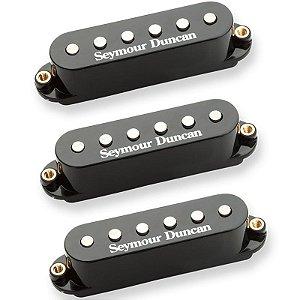 Set Captador Stratocaster Seymour Duncan Classic Stack Plus Stk-S4 Black Cover