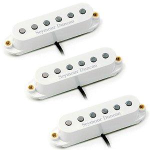 Set Captador Stratocaster Seymour Duncan Classic Stack Plus Stk-S4 White Cover