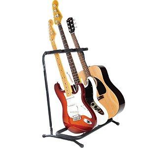 Suporte Fender Dobrável Para 3 Instrumentos
