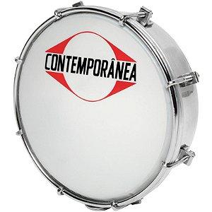 """Tamborim Contemporânea 203c Profissional 6"""" Com Baqueta"""