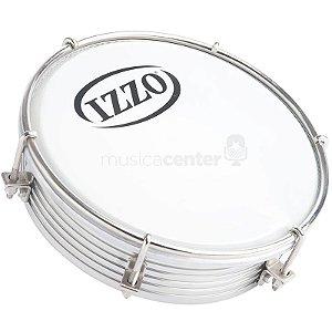 """Tamborim Pele Leitosa Profissional 6"""" Aluminio Izzo 6584"""